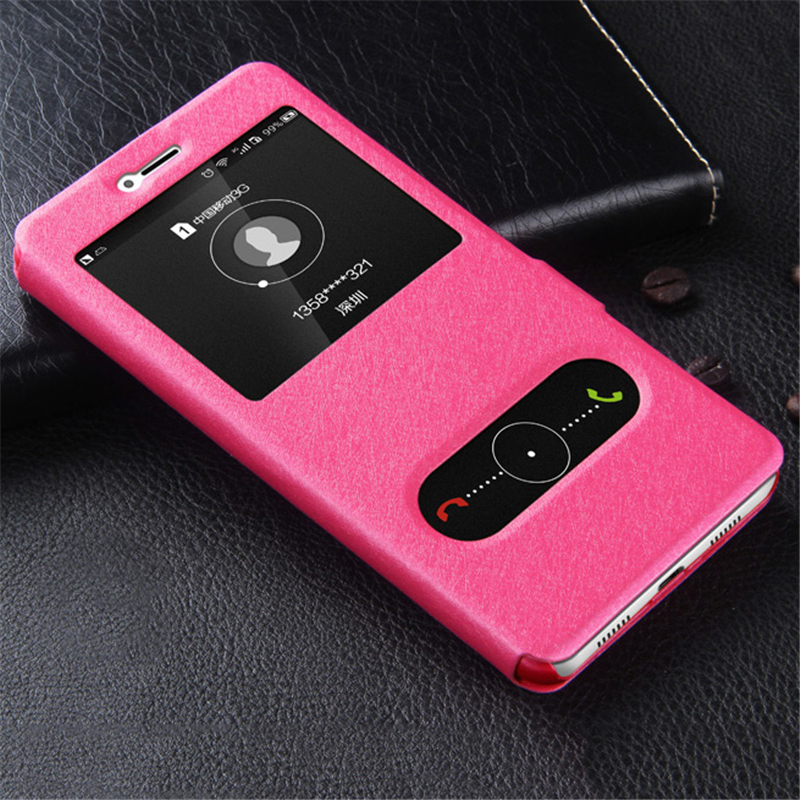 Original Brand PU Leather Cover for Huawei Honor 8 lite Case Luxury Holder Stand Case for Honor 8 Case PC Flip Kickstand Bag