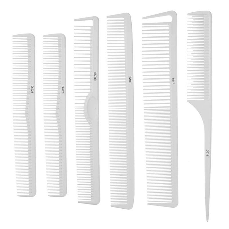 Hair-Brush-Comb Salon Styling-Tools Anti-Static Professional 6pcs/Set