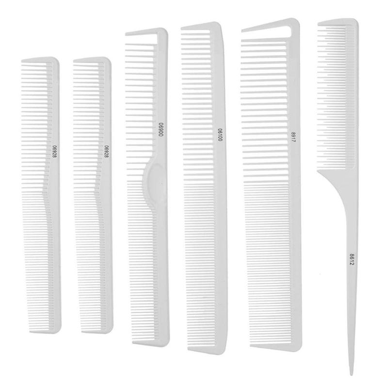 6pcs/Set Professional Hair Brush Comb Salon  Anti-static Hair Combs Hairbrush Hairdressing Combs Hair Care Styling Tools