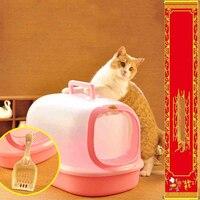 Прозрачный ПЭТ коробки, туалет, постельное белье, кошка, сандалии для туалета, роскошный для туалета, кошки, тренировочные инструменты, дома,