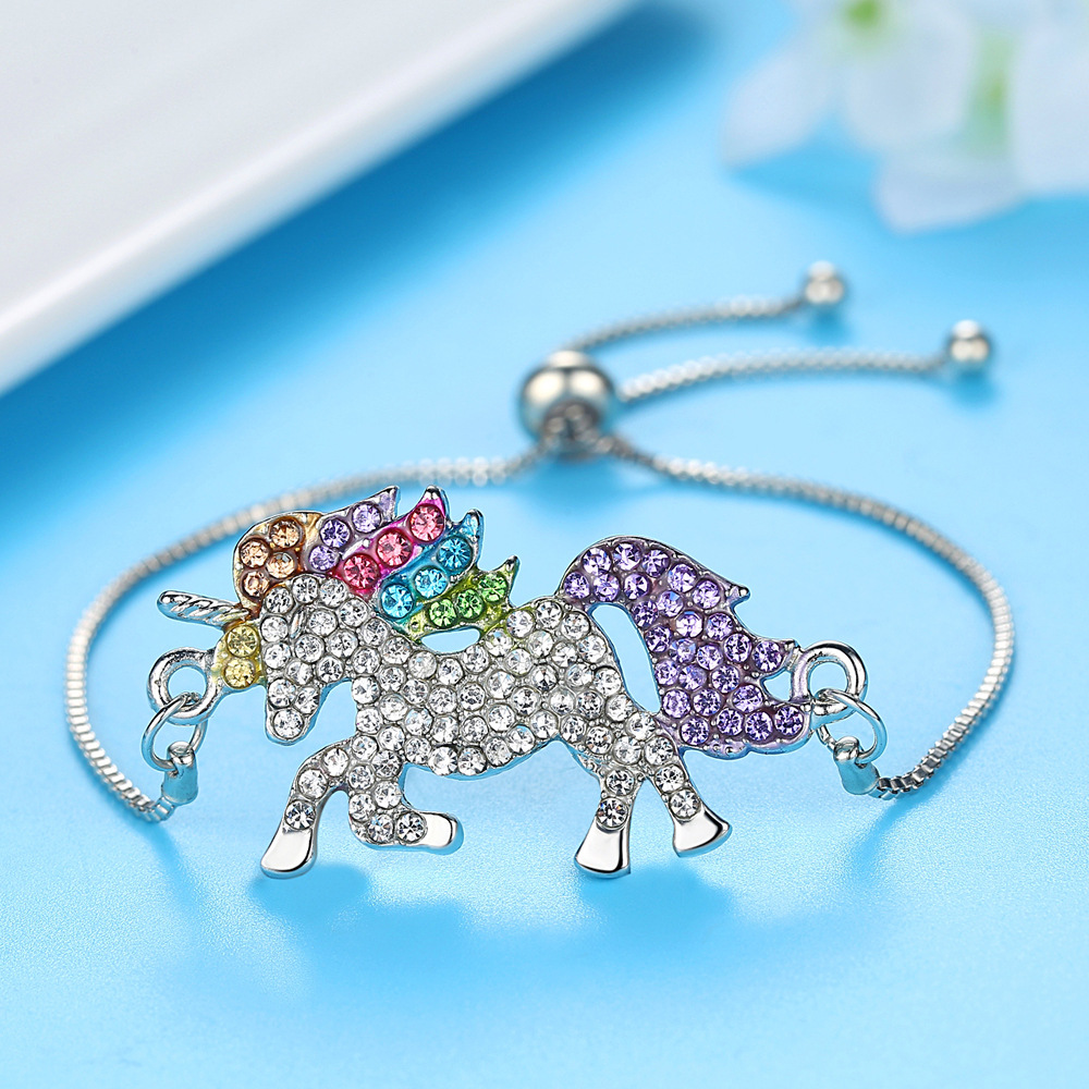 HTB1rMqibkT2gK0jSZFkq6AIQFXas - Cute Unicorn Necklace Fashion Cartoon Horse Jewelry Accessories For Girls Children Kids Women Party Animal Pendant Bracelet Set