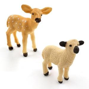 Image 2 - Simulation forest wild plastic animals figure model Alpaca Warthog Chimpanzee sheep Deer Fox Antelope Monkey Gibbon figurine toy