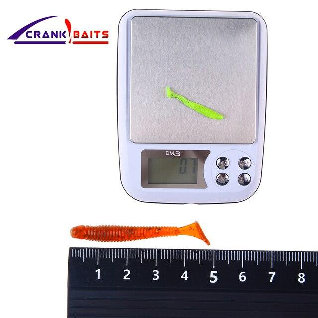 CRANK BAITS 1pcs Easy Shiner Soft Lure 45mm0.3/0.7gSwimbaits Silicone Fishing Lure Artificial Bait Carp Fishing Ocean Fish Peach 1