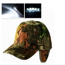 Wealers Кемпинг/Охота ухо крышка хлопок cap Hap со встроенным в 5 ярких светодиодных огней камуфляж включают батареи