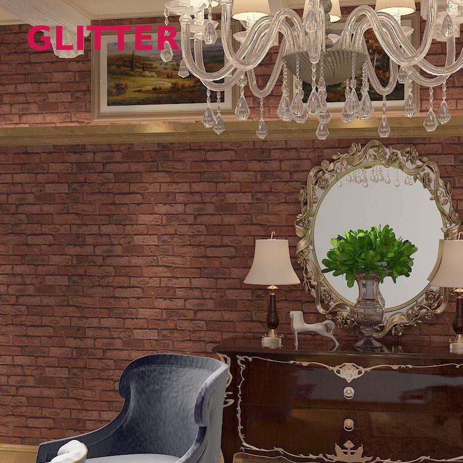 Us 36 88 Italian Style Embossed Brick Wallpaper 7color Black Brick Wall And White Brick Wallpaper Brick Pattern 3d Wallpaper Living Room In