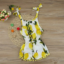 Baby Girls Lemon Tassel Print Princess Cute Toddler Infant Dress Sundress Kids Dresses For Girls Robe Fille Dropshipping #YL1(China)