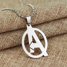 RJ Modni nakit Enostavna The Avengers 3 Ogrlice Visoko kakovostno Super Hero Pismo iz nerjavečega jekla A Moški Kroglice Verižna verižica
