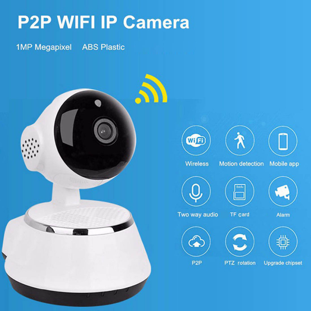 720p ip camera wifi wireless baby monitor 1 0mp p2p hd support app remote control ir cut night. Black Bedroom Furniture Sets. Home Design Ideas