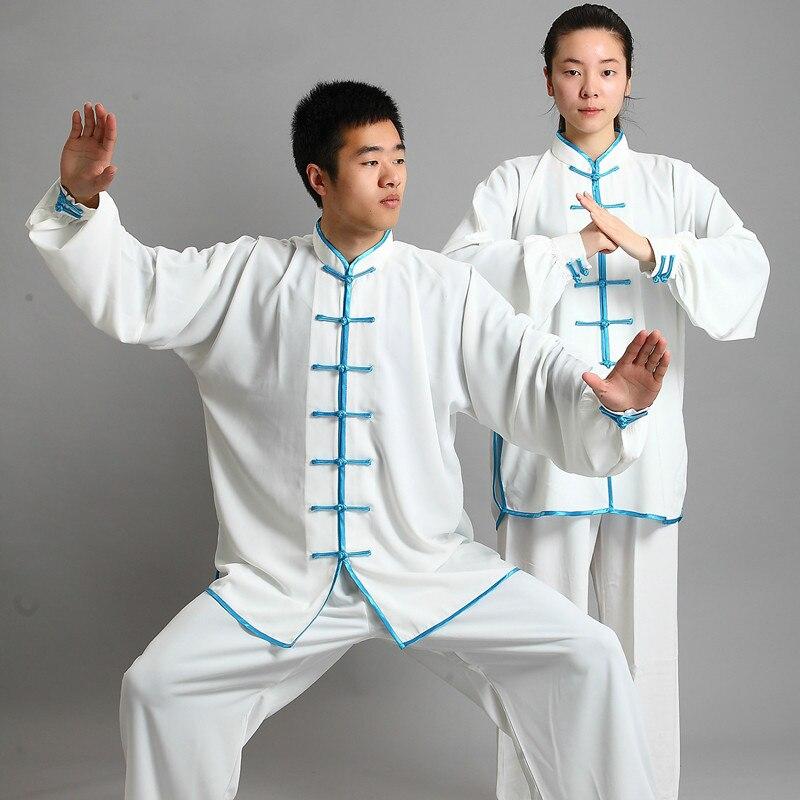 Neues Design 14 Farbe Langärmelige Wushu TaiChi KungFu Uniform Anzug Uniformen Tai Chi Übung Kleidung