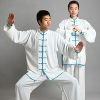 New Design 14 Color Long Sleeved Wushu TaiChi KungFu Uniform Suit Uniforms Tai Chi Exercise Clothing