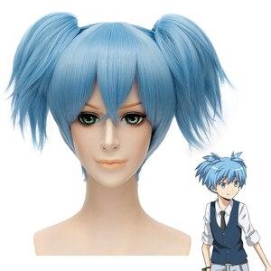 Image 1 - อะนิเมะลอบสังหารห้องเรียนShiota Nagisa Ponytailsวิกผมคอสเพลย์เครื่องแต่งกายAnsatsu Kyoushitsuสังเคราะห์ฮาโลวีนParty Wigs
