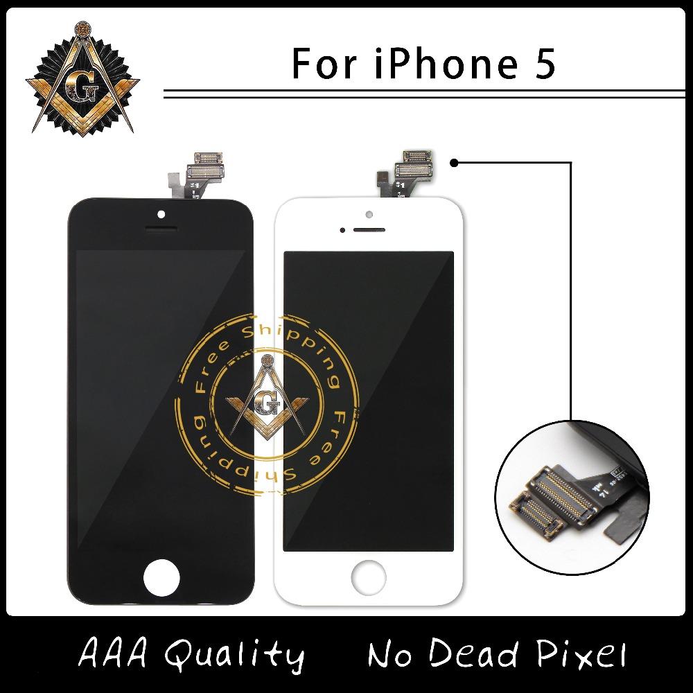 Prix pour 100% Test bonne LCD pour iPhone 5 LCD pas de Dead Pixel bon travail LCD assemblée de l'écran par la plus rapide DHL livraison gratuite