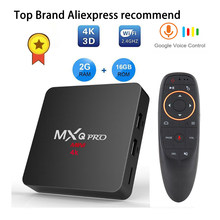 Android tv box iptv subscription MXQ pro RK3229 4k 2G 16G Smart BOX Android 7.1 4K Tv HD 3D 2.4G WiFi h96 max X96 tv android boX(China)