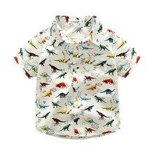 Summer Cotton Short Sleeve Shirt – Dinosaur