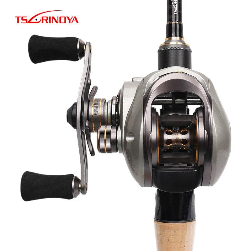 TSURINOYA Bait Casting Fishing Reel CK 150 10BB 6 6 1 Magnet and Centrifugal Dual Brake