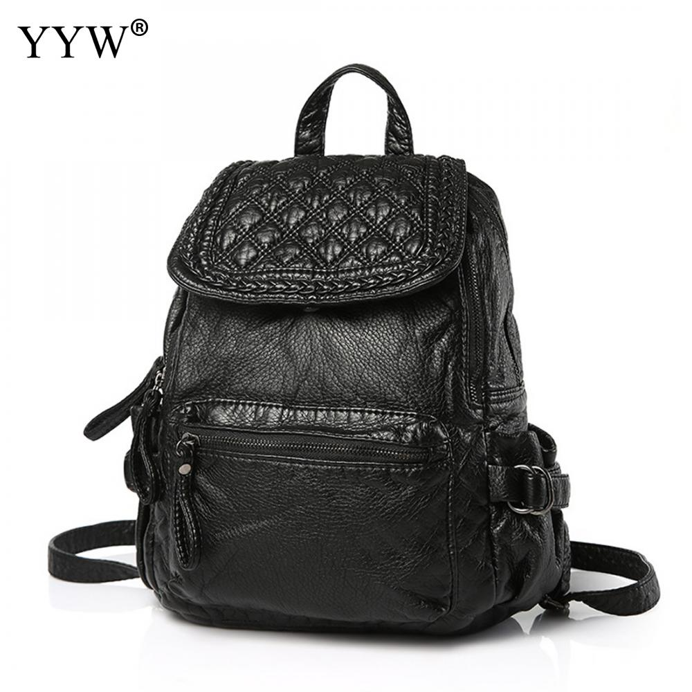 New Arrival Black Korean Travel Bags Women Backpack PU Leather bags for school Waterproof designer fashion backpacks female girl backpack women new backpack girl korean fashion oxford cloth soft leather back black bags