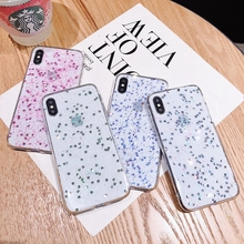 Glue glitter Cover case for iphone X 10 XR Xs max 7 8 6 6s plus The protective cover of the mobile phone