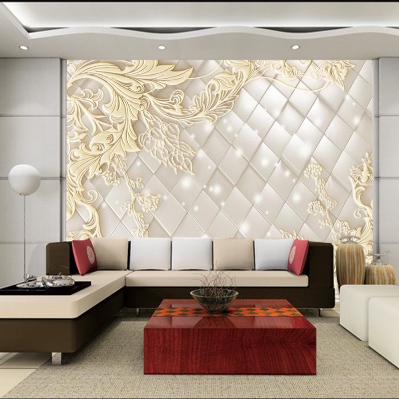 3D luxurious floral TV sofa background wallpaper European style 5D solid embossed seamless murals for living room bedroom3D luxurious floral TV sofa background wallpaper European style 5D solid embossed seamless murals for living room bedroom