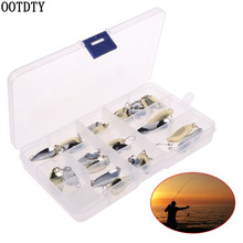 OOTDTY 30 Pcs/set Fishing Baits Sequins Set Gold Silver Color Sequin Hook With Box Bait Tool Tackle Accessories Helper