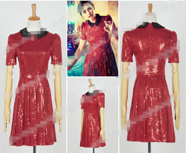 Custom Made Who Is Doctor 8 Clara Oswald Red Sequins Red