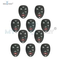 10pcs New Replacement Remote fob case 6 button 20859053 for GM GMC Yukon Car Key Shell remtekey