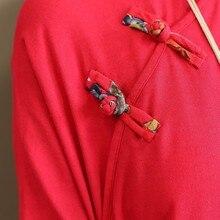NINI WONDERLAND Autumn Long Dress Women 2018 Spring Loose Dress Casual Cotton Linen Printing Vintage Red Dresses Big Size