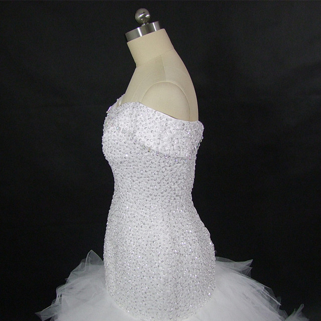 New African Off the Shoulder Mermaid Wedding Dress With Video Custom-made Plus Size Sexy Beaded Wedding Gown