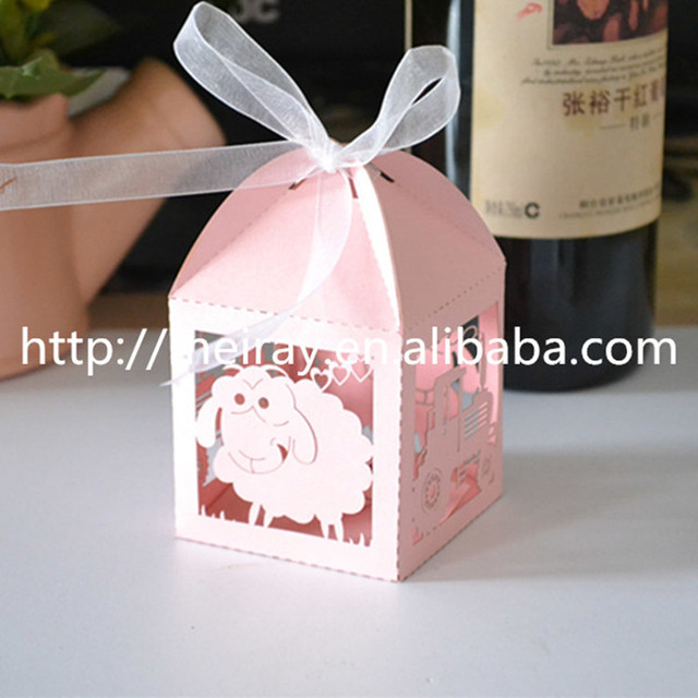 Party Supplies Whole China Laser Cut Sheep Gift Favour Box Cookie Wedding Custom