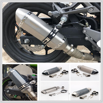Motorcycle Modify Exhaust Muffler For  Kawasaki ZZR600 Z900 Z650 VERSYS 1000 VULCAN S 650cc Z750 Z750S