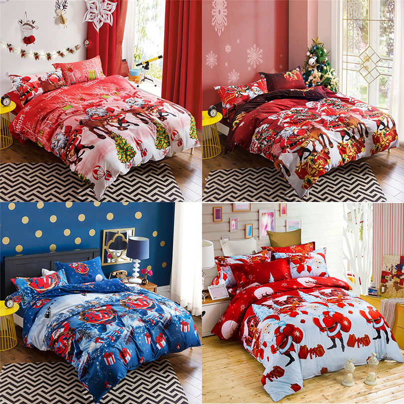 2017 Christmas Duvet Cover Bedding Sets Queen King Size