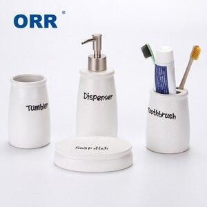 Blk/Wt четыре керамических сантехники для ванной комнаты, чашки, держатель для зубной щетки, диспенсер для мыла, дисплей для ванны, sabonetei Articulos ...