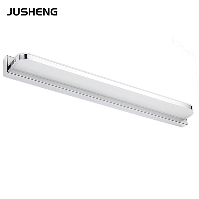 ФОТО Indoor Lighting 100-240V AC Stainless Steel  72cm Long LED Bathroom Light Fixtures 16W Acrylic Mirror Lamp 5960R