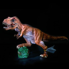 Large Size Plastic Dinosaur Toy Model Action Anime Figures of Jurassic Park Tyrannosaurus Rex Two Colors Toys For Children Gifts new world park tyrannosaurus rex dinosaur plastic toy model kids gifts