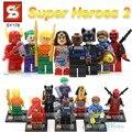 DC Лига Справедливости SY178 ПРОТИВ decool Строительные Блоки Игрушка Супер Герои Вспышки Deadpool Женщина-Кошка Джокер