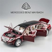 NUEVO 1/24 Maybach S600 de Metal Modelo de Coche de Aleación de Fundición A Presión de Alta simulación Modelos de coches 6 Puertas Se Pueden Abrir Inercia Juguetes Para Los Niños