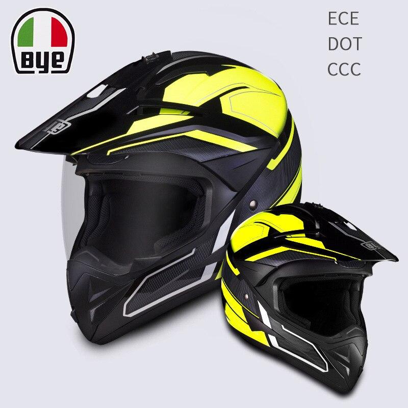 BYE Motorcycle Helmet Riding Full Face Helmet Motocross Biker Touring Racing Casco Moto Helmet Capacetes Off Road DOT ECE