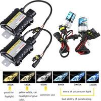 35W 55W 12V Xenon Light Bulb Car Headlight H1 H3 H7 H11 9005 9006 4300k 5000k 6000k 8000k HID Slim Ballast Xenon Headlamp 1 Kit