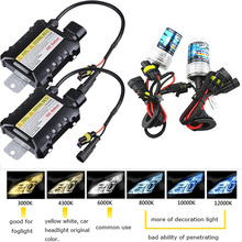 35W 55W 12V Xenon Light Bulb Car Headlight H1 H3 H7 H11 9005 9006 4300k 5000k 6000k 8000k HID Slim Ballast Xenon Headlamp 1 Kit