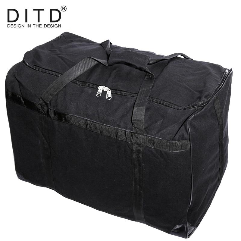 e498a41c8ef0 40L Oversized Fashion Canvas Travel Tote Duffel Bag Men Large Capacity Shoulder  Bags Satchel women Luggage Weekend Overnight Bag
