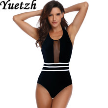 2019 New female women swimsuit one piece swim suit sexy women swimwear solid Russian swimming beachwear bathing wear suit(China)