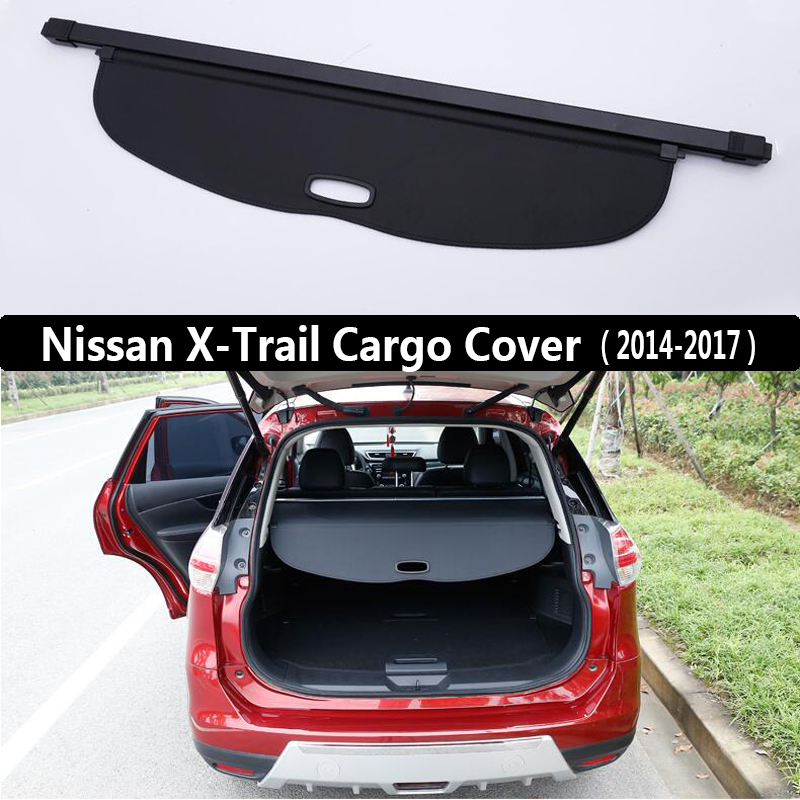 For Nissan X-Trail XTrail 2014-2017 Rear Cargo Cover privacy Trunk Screen Security Shield shade (Black, beige) Auto Accessories xbox elite controller 2