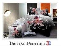 Flower 3d bedding set 3/4pcs Duvet cover set,bedclothes bed in a bag,Include:bed sheet,duvet cover pillowcase