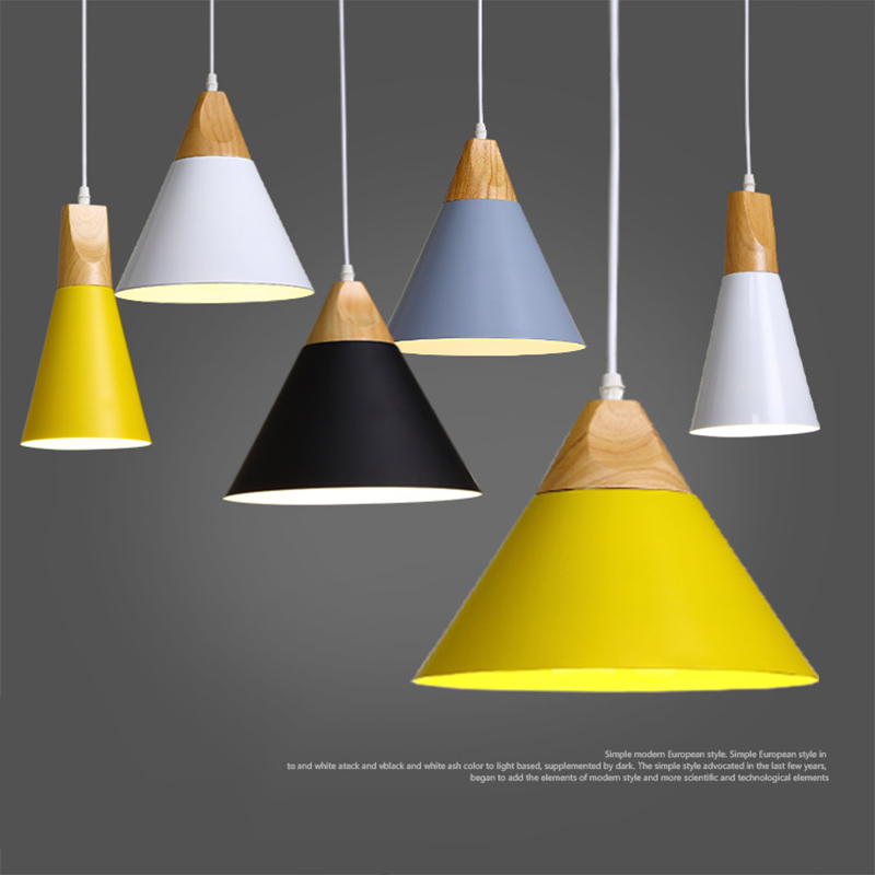 Modern Wood Pendant Ceiling Hanging Lamp Kitchen Light
