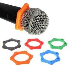 1 conjunto de borracha anti anel de rolo deslizante proteção para microfone sem fio portátil