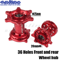 Red CNC Full Set Front Rear Wheel Hub 36 Holes For HONDA CR125/250 2002 2007 CRF 250 CRF450R/X 2002 2012