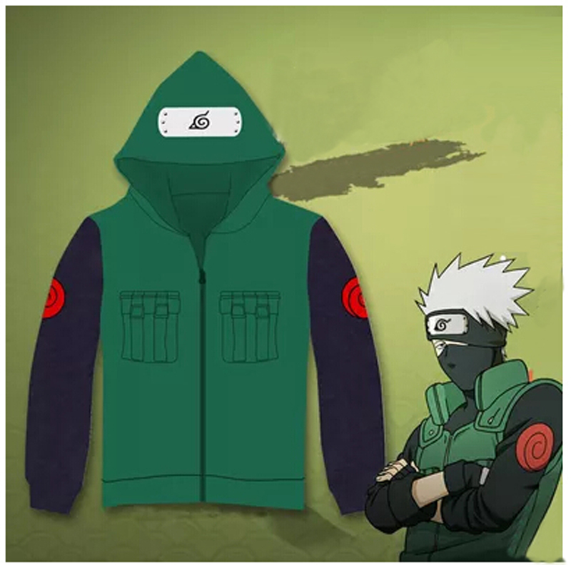 Naruto Hatake Kakashi cosplay costume anime men hoodies sweatshirts men tracksuit Casual Cardigan jacket