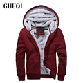 GUEQI ADD Flecce Men Warm Hoodies Plus Size M-3XL Soft Fabric Clothing 2017 Cold Winter Man Casual Outerwear