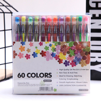 K KBOOK 60 Colors Gel Pens Set Refills Gel Ink Pen Metallic Pastel Neon Glitter Sketch