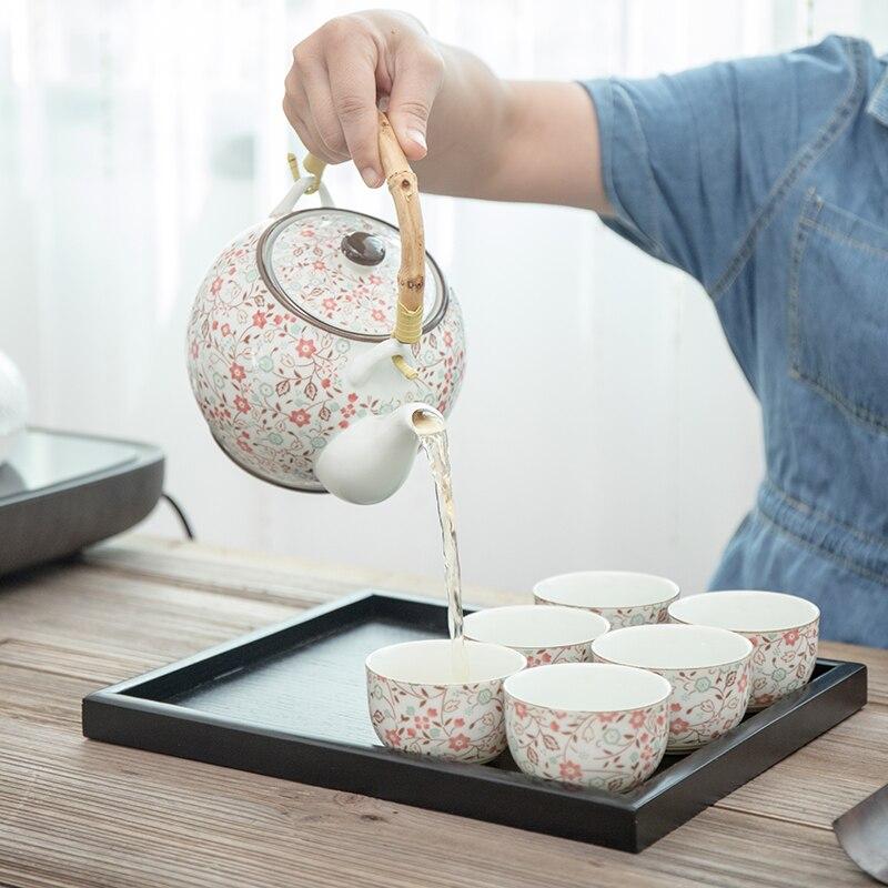 TANGPIN grande capacità giapponese set da tè in ceramica teiera in ceramica tazza da tè cinese kung fu tea set con vassoio-in Servizi da tè da Casa e giardino su  Gruppo 3