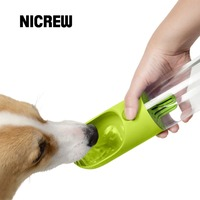 Nicrew Pet Outdoor Travel Bottle Water Filtration Outdoor Fashion Color Easily Taking Antibacterial Dogs Cats Water